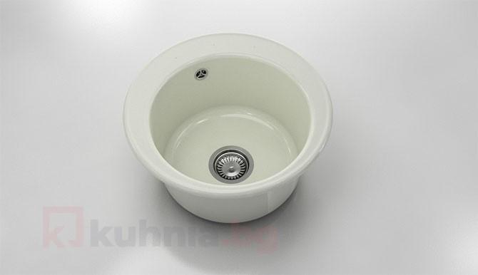 Кръгла мивка 220- полимермрамор - дълбочина 21 см.
