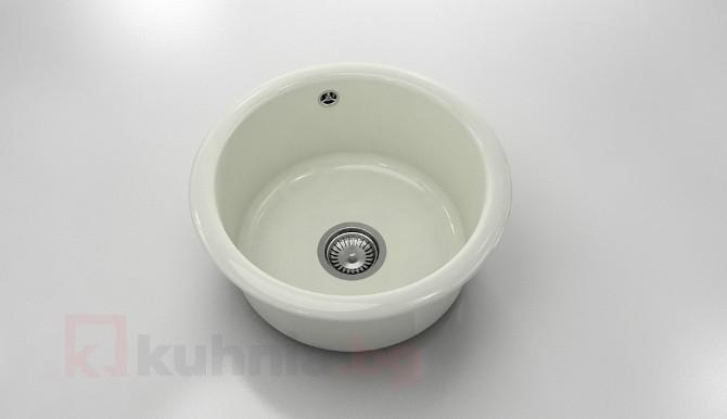 Кръгла мивка 206- полимермрамор- дълбочина 21 см.