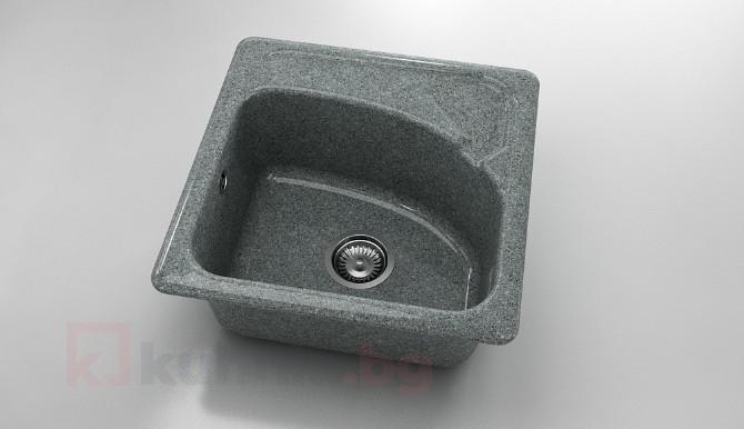 Мивка със съпунерка 201 граниксит - 51x51см