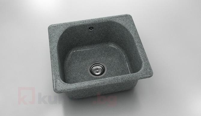 Единична мивка 207- граниксит - 51 х 46 см.