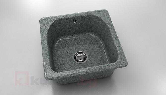 Единична мивка 208- граниксит - 51 х 51 см.