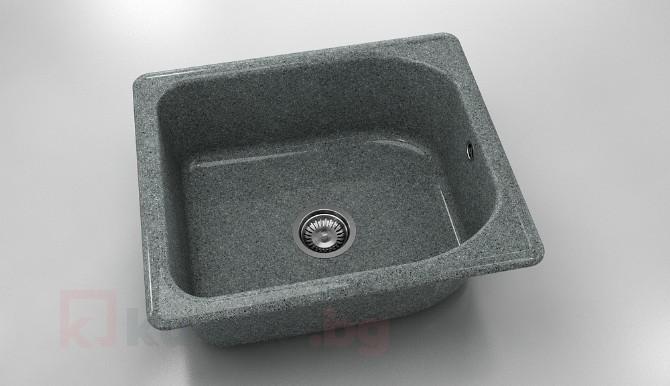 Единична мивка 210- граниксит - 51 х 60 см.