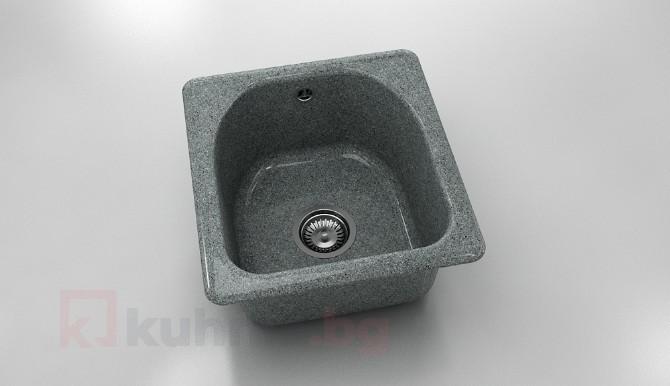 Единична мивка 217- граниксит - 43 х 46 см.
