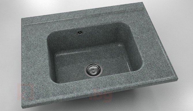 Свободностояща мивка за модул единична 219- граниксит-80х60см.