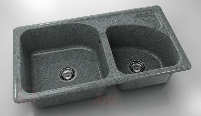 Мивка с две корита 204- граниксит-90х49см.