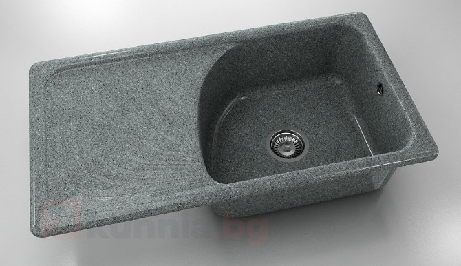 Мивка с ляв плот 203-граниксит- 90х49см.