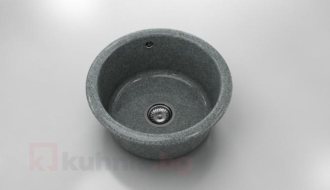 Кръгла мивка 206- граниксит - дълбочина 21 см.