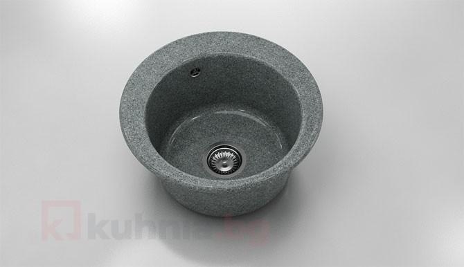 Кръгла мивка 220- граниксит - дълбочина -21 см.