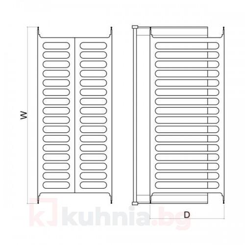 Отцедник за вграждане - за шкаф 600, 700, 800, 900 mm
