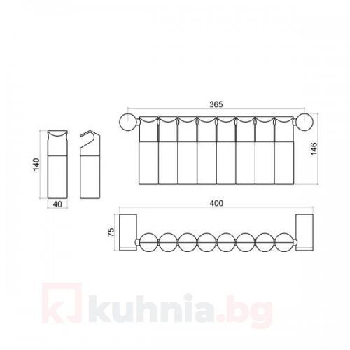 Комплект за стена за подправки 10KT.3191