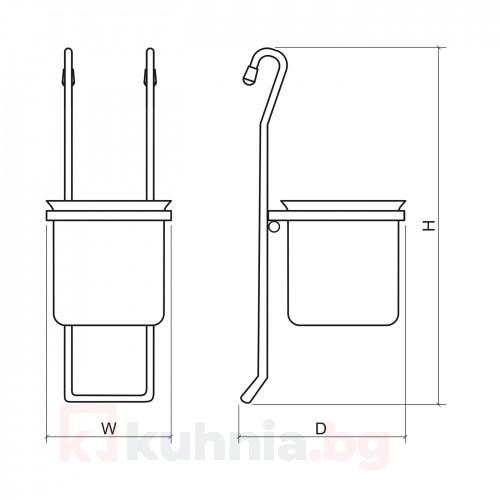 Поставка за прибори  - метална, единична  10KC.3115