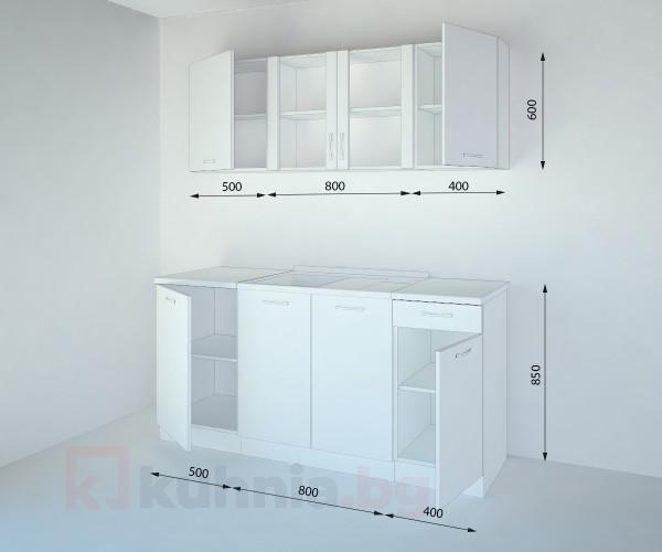 Кухенски комплект Нарцис Атлас Стъкло - L 170 cm