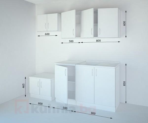 Кухненски комплект Нарцис Мат - L 130 cm