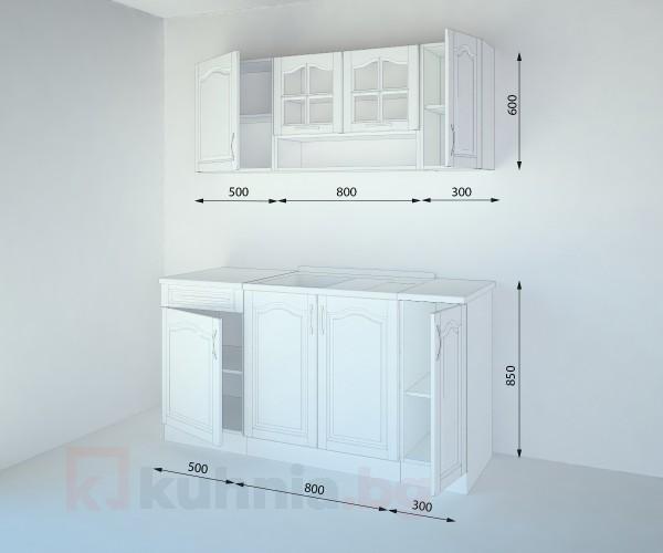 Кухненски комплект Астра Натурална - L 160 cm