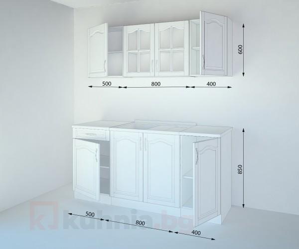 Кухненски комплект Астра Натурална - L 170 cm