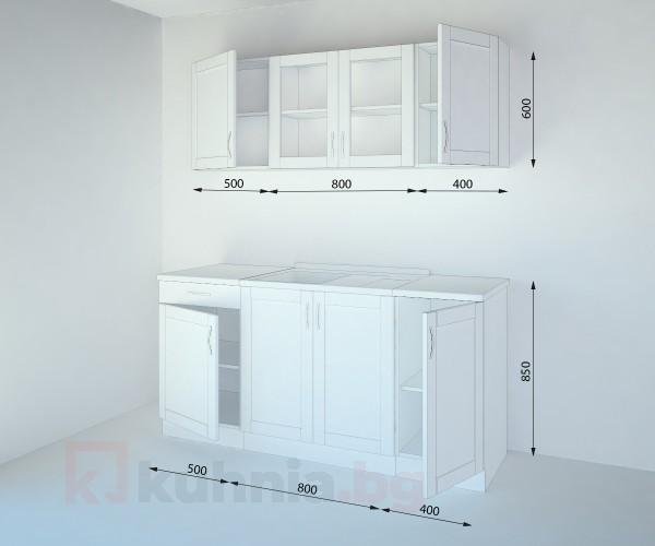 Кухненски комплект Калатея Натурална - L 170 cm
