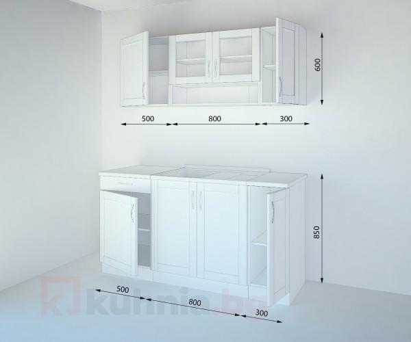Кухненски комплект Калатея Натурална - L 160 cm
