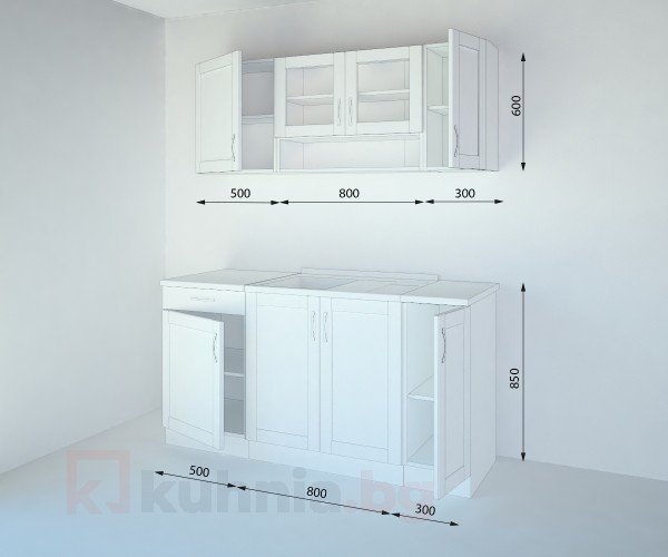 Кухненски комплект Калатея Ким - L 160 cm