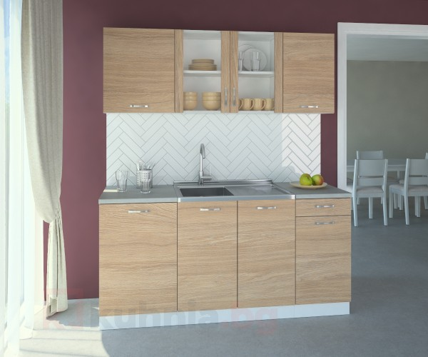 Кухненски комплект Поларис Стъкло - L 170 cm