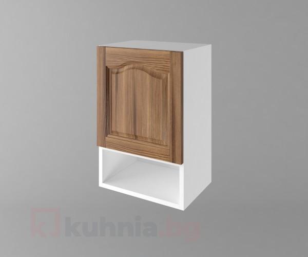 Горен кухненски шкаф с една врата и ниша Астра - Канела