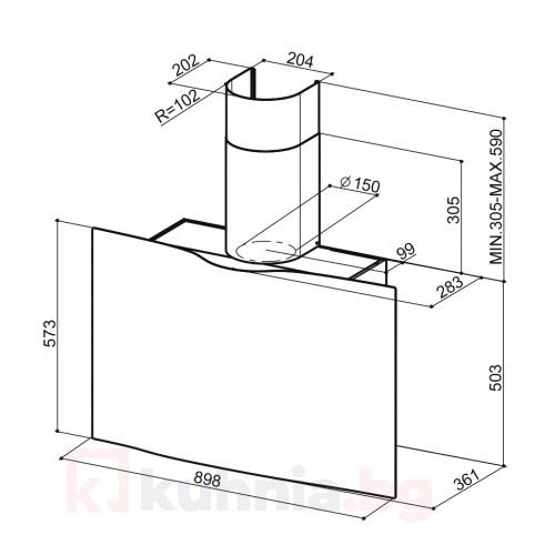 Вертикален аспиратор VEIL FABER