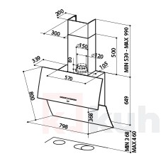 Вертикален аспиратор MIRROR BRS FABER
