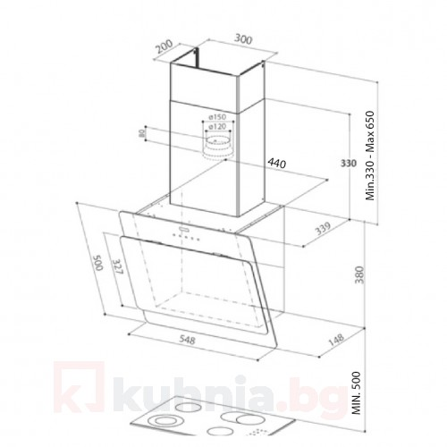 Вертикален аспиратор  COCKTAIL EV8 A55 FABER