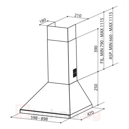 Декоративен аспиратор STRIP SMART A90 FABER