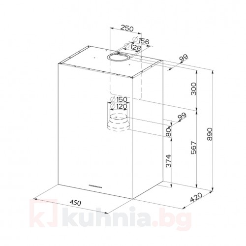 Аспиратор с кубична форма PANEL Еurolux