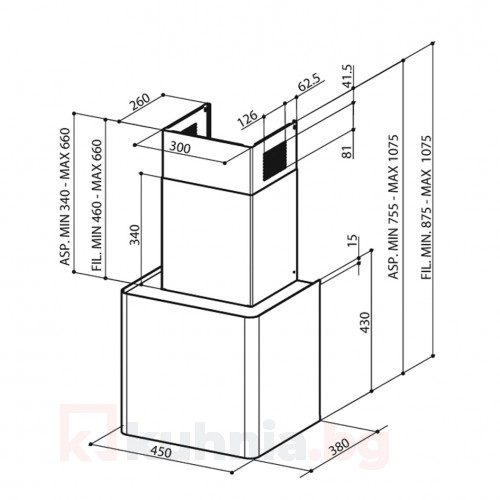 Аспиратор с кубична форма LITHOS EG6