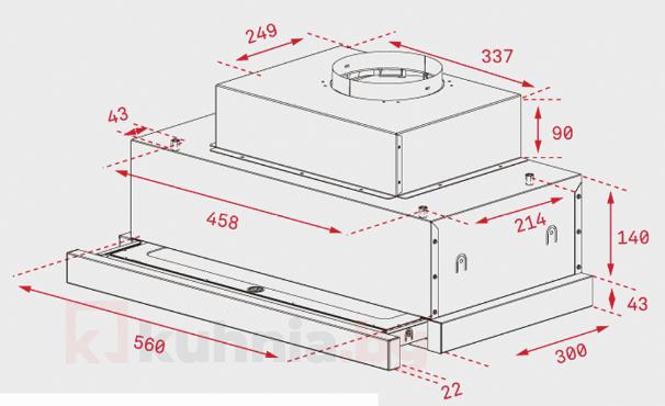 Телескопичен абсорбатор за вграждане CNL 6815 Plus
