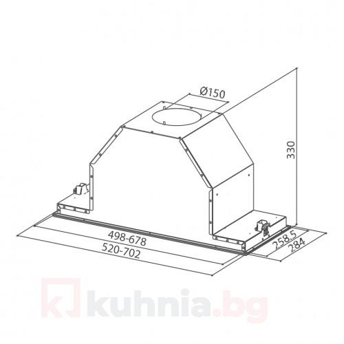 Аспиратор за пълно вграждане INCA LUX SMART EV8 X A70 Инокс
