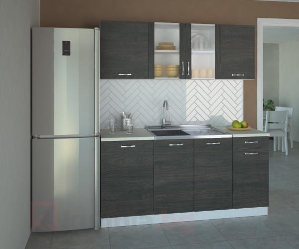 Кухненски комплект Вега Стъкло - L 170 cm