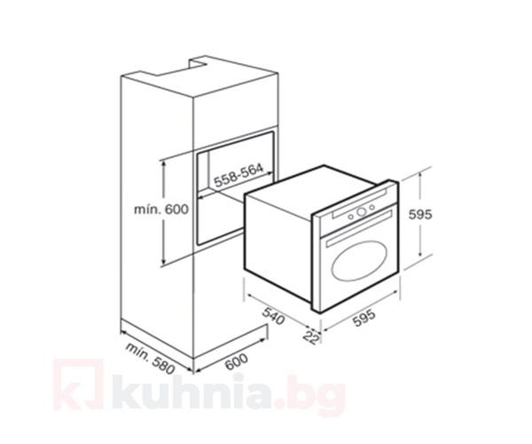 Фурна HR 550 Бежова TEKA