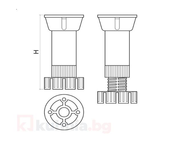 Кухненски крак  РVC на две части