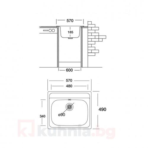 Мивка за вграждане COMPACT 570 SI