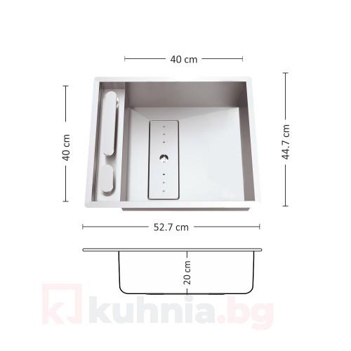 Мивка за вграждане  LEKSIA 527 FI/U