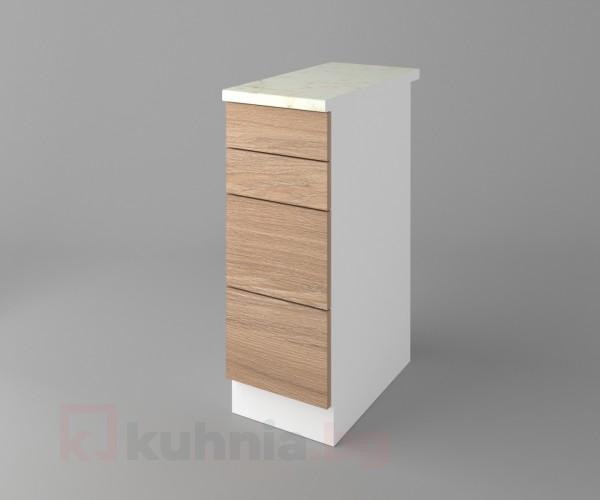 Долен кухненски шкаф с четири чекмеджета Поларис Поларис