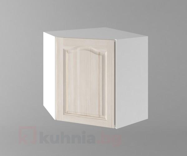 Горен кухненски шкаф за вътрешен ъгъл с една врата б65 Астра - Крем