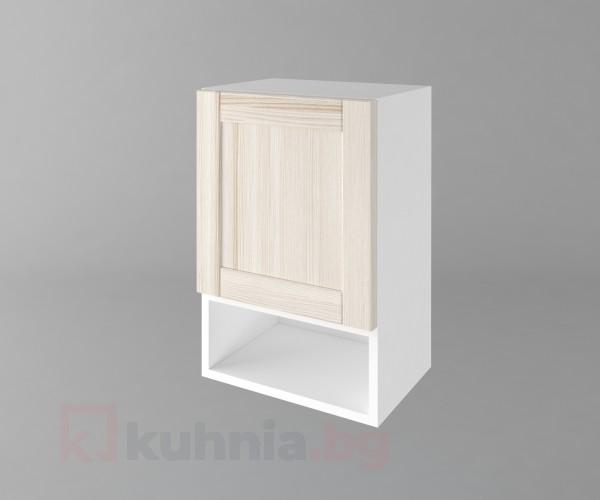 Горен кухненски шкаф с една врата и ниша Калатея - Крем