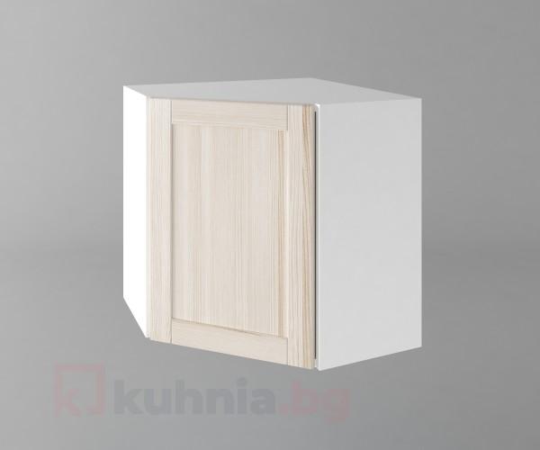 Горен кухненски шкаф за втърешен ъгъл с една врата б65 Калатея - Крем