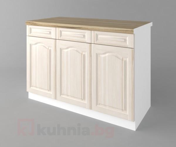 Долен кухненски шкаф с три чекмеджета и три врати а121 Астра - Крем