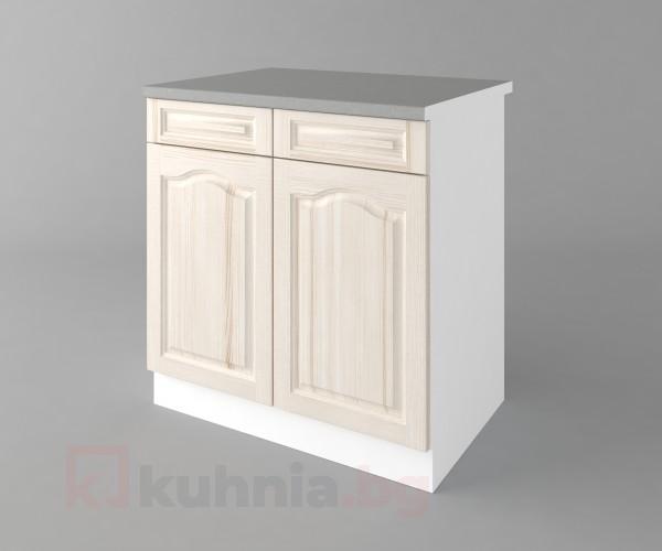 Долен кухненски шкаф с две чекмеджета и две врати  Астра - Крем