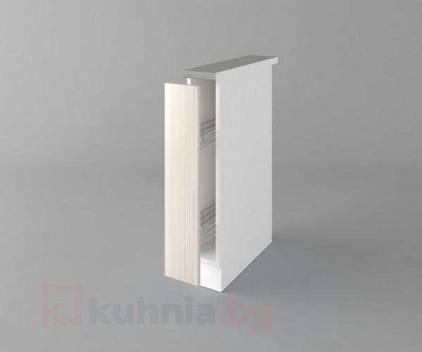 Долен кухненски шкаф с включен механизъм за бутилки Астра - Крем