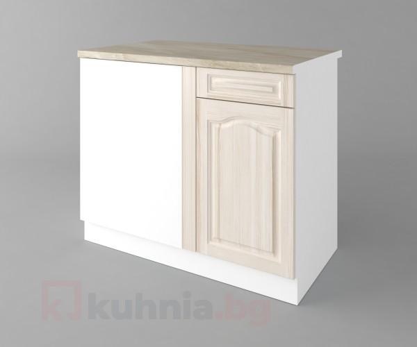 Долен кухненски шкаф за ъгъл Астра - Крем