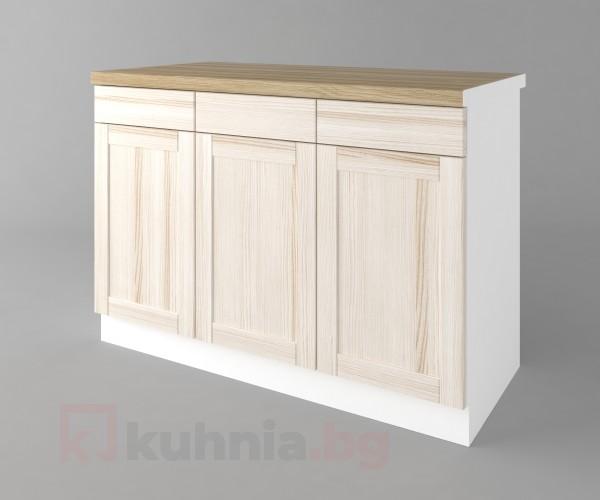 Долен кухненски шкаф с три чекмеджета и три врати а121 Калатея - Крем
