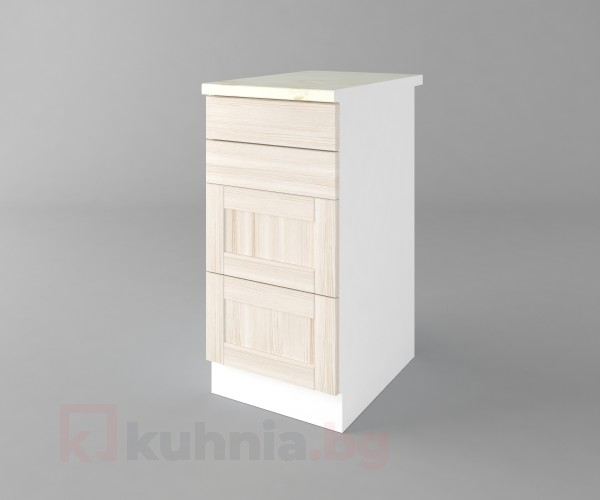 Долен кухненски шкаф с четири чекмеджета Калатея - Крем