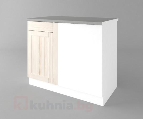 Долен кухненски шкаф за ъгъл Калатея - Крем