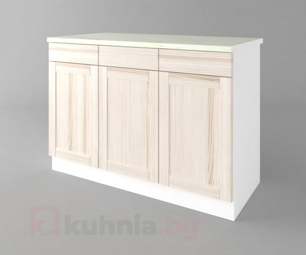 Долен кухненски шкаф с три врати и три чекмеджета а121 Калатея - Крем