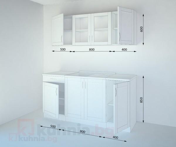 Кухненски комплект Калатея Крем - L 170 cm